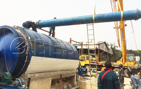 Beston waste plastic pyrolysis plant installed in Nigeria